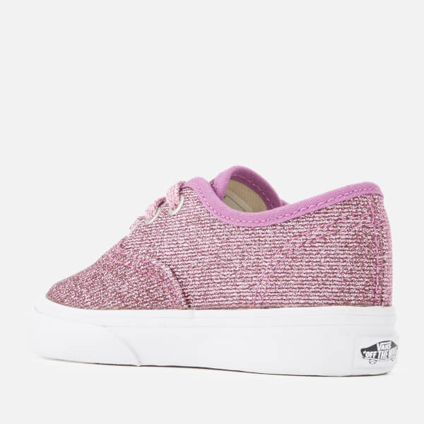 0f9390dc19d Vans Toddlers  Authentic Lurex Glitter Trainers - Pink True White  Image 2