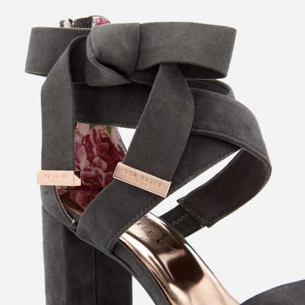 c3ece7a10 Ted Baker Women s Noxen 2 Suede Block Heeled Sandals - Charcoal  Image 4