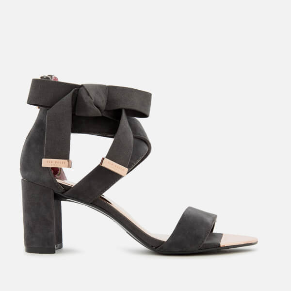 3407fc7335bb47 Ted Baker Women s Noxen 2 Suede Block Heeled Sandals - Charcoal  Image 1