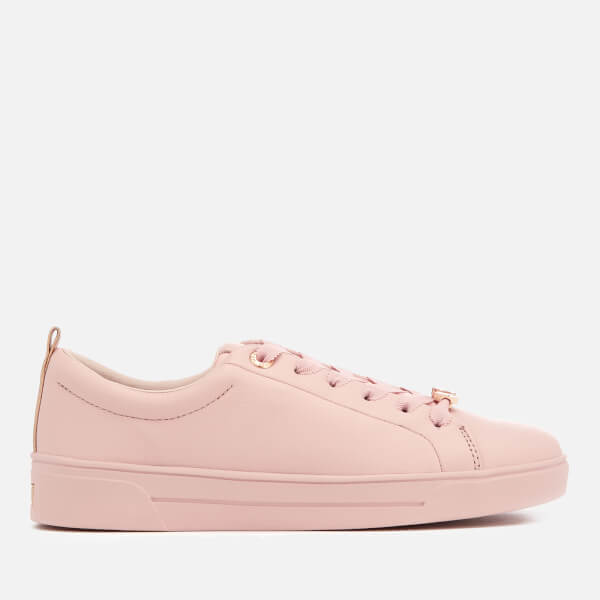 39640e5024693b Ted Baker Women s Gielli Leather Cupsole Trainers - Pink Damenschuhe ...