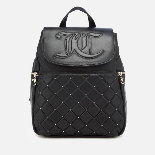 Juicy Couture Women s Ellen Flapover Backpack - Black  Image 1 a6686eb1f