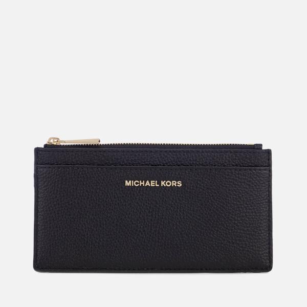 340d11856d55 MICHAEL MICHAEL KORS Women's Mercer Pebble Large Slim Card Case - Black:  Image 1