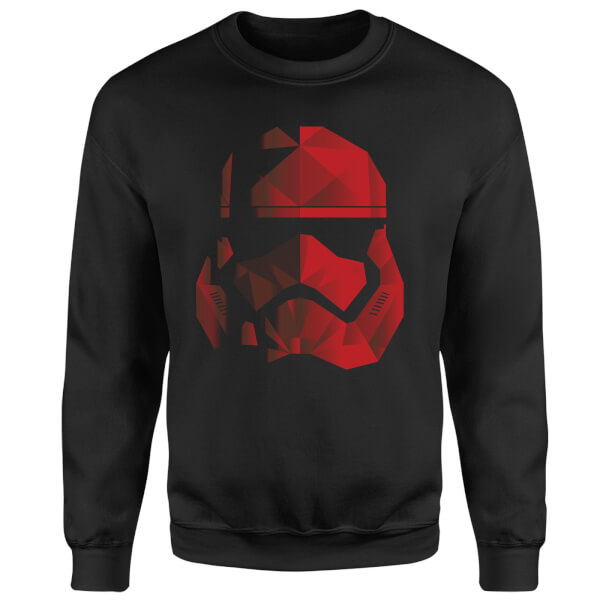 Star Wars Jedi Cubist Trooper Helmet Black Sweatshirt - Black