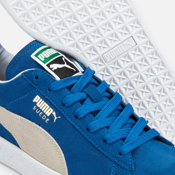 bcaea35bc3d4 Puma Men s Suede Classic + Trainers - Olympian Blue White Mens ...