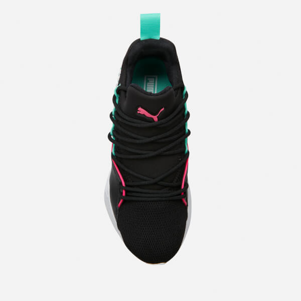 5409d1366bef Puma Women s Muse Maia Chase Trainers - Puma Black Knockout Pink Biscay  Green