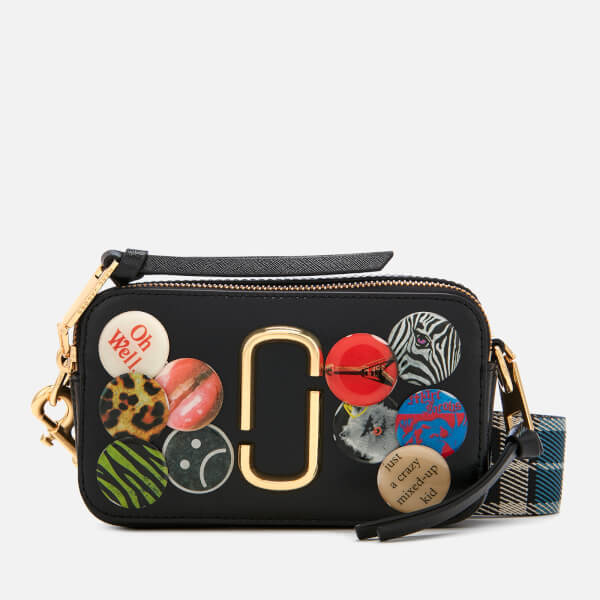 Marc Jacobs Women's Snapshot Badges Cross Body Bag - Black