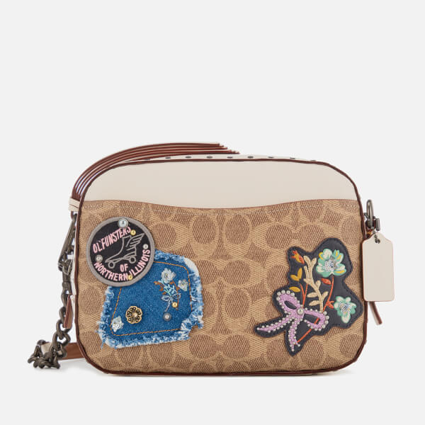 Coach Women's Patches and Border Rivets Camera Bag - Chalk