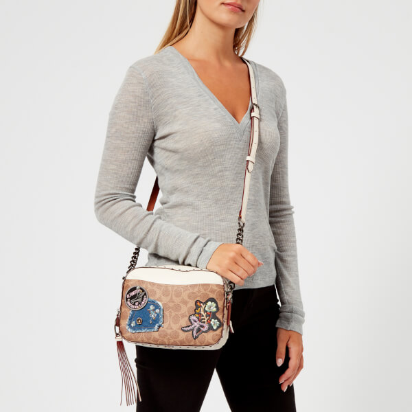 Coach Women's Patches and Border Rivets Camera Bag - Chalk: Image 21
