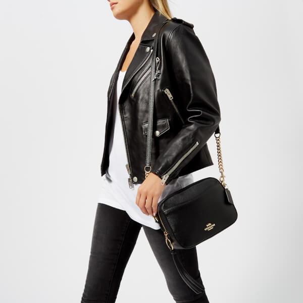 c018275e025 Coach Women's Polished Pebble Leather Camera Bag - Black: Image 3