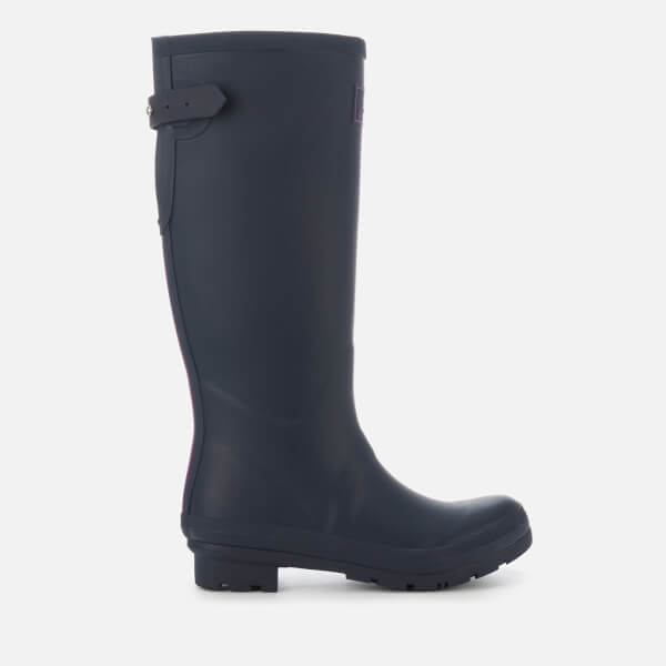 Joules Women's Field Back Adjustable Tall Wellies - French Navy