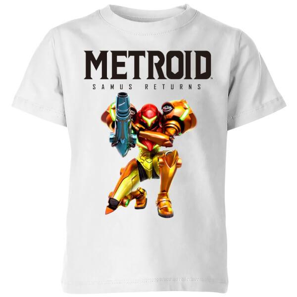 Nintendo Metroid Samus Returns Colour Kids' T-Shirt - White