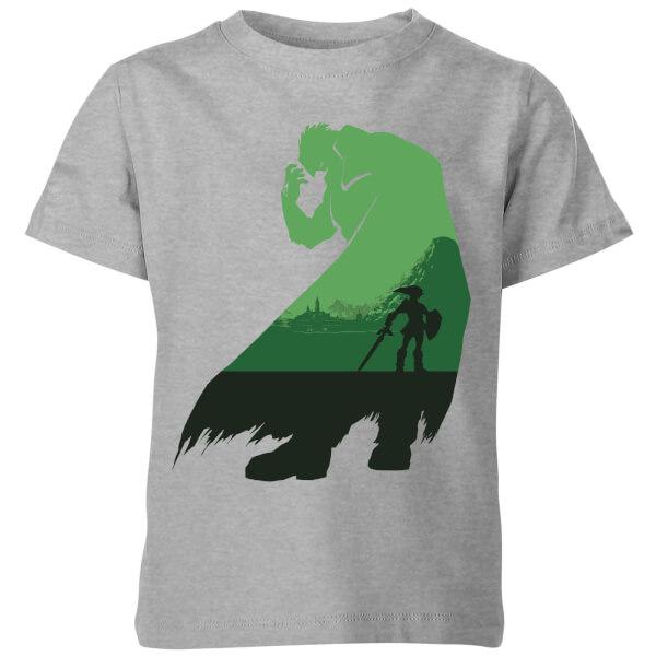Nintendo The Legend Of Zelda Ganondorf Silhouette Kids' T-Shirt - Grey