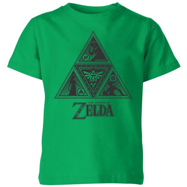 Nintendo The Legend Of Zelda Triforce Kids' T-Shirt - Kelly Green