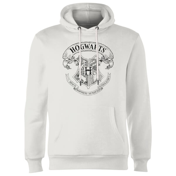 Harry Potter Hogwarts Crest Hoodie - White