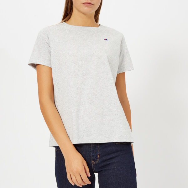 Champion Women s Short Sleeve T-Shirt - Grey Marl - Free UK Delivery ... 5cc41d242