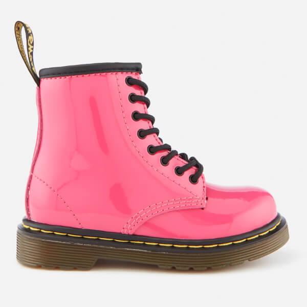 Dr. Martens Kids' 1460 T Patent Lamper Lace Up Boots - Hot Pink