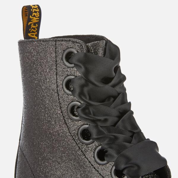 5cc86fa97242 Dr. Martens Women s Molly Glitter Lolita Boots - Black Clothing ...