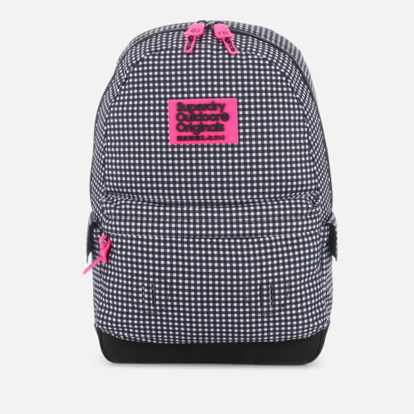 Superdry Women s Print Edition Montana Backpack - Black Gingham  Image 1 96d045d18a7fb