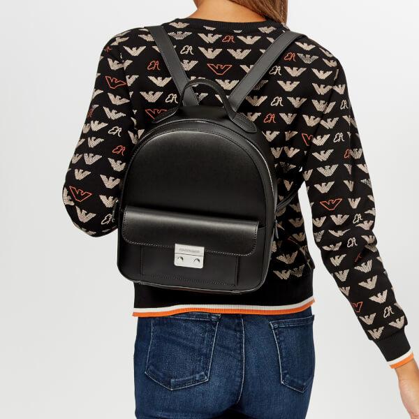 6f3e5f496610 Emporio Armani Women s Backpack - Black Clothing