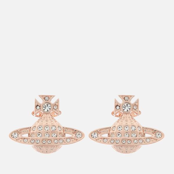 691edbbf9c7 Vivienne Westwood Women's Mini Bas Relief Earrings - Pink Gold: Image 1