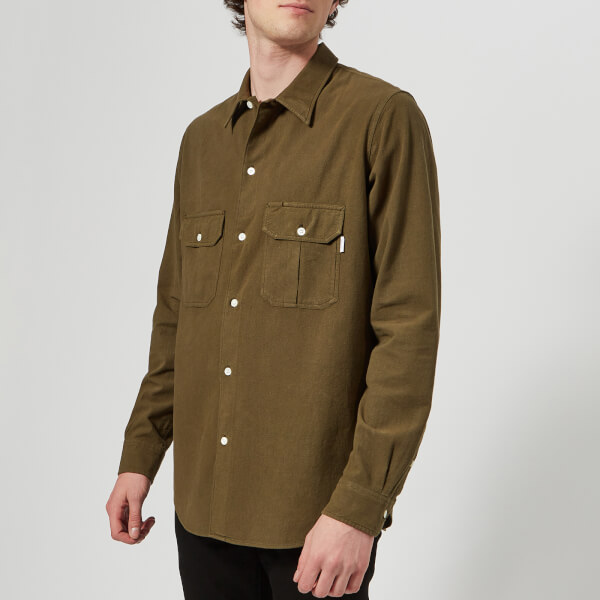 PS Paul Smith Men's Casual Fit Long Sleeve Shirt - Green