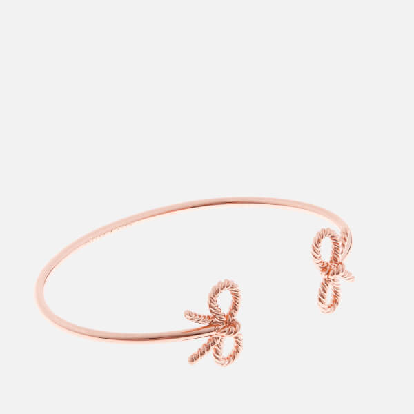 Olivia Burton Women's Vintage Bow Open Ended Bangle - Rose Gold