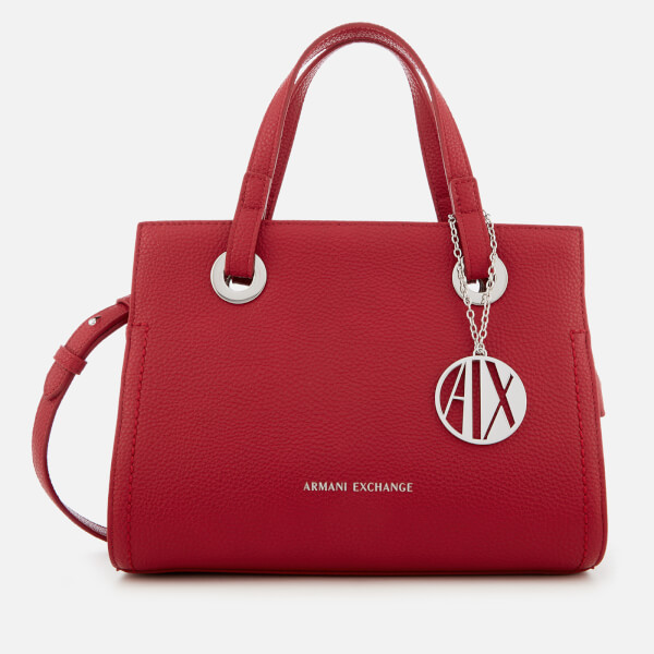 cac82c062ea9 Armani Exchange Women s Small Shopper With Cross Body Bag - Royal Red   Image 1