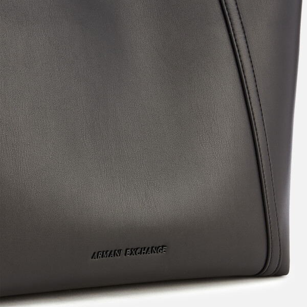 b532777d071 Armani Exchange Women s Nappa Look Tote Bag - Black  Image 4