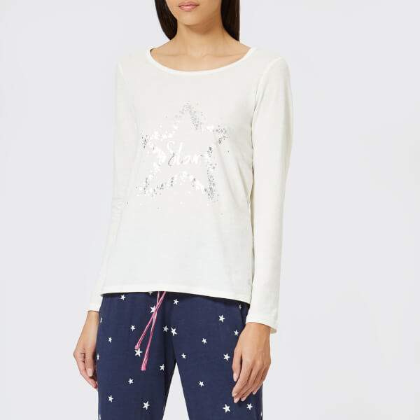 Joules Women's Aubree Long Sleeved Graphic Top - Cream