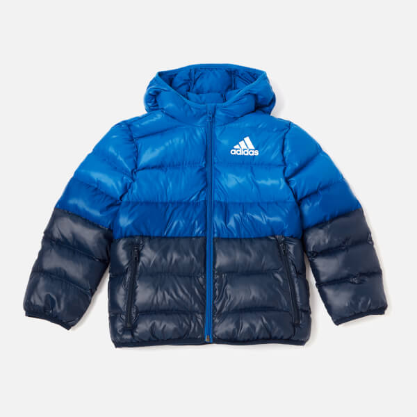 39ba1af61737 adidas Boys  Padded Back to School Jacket - Blue Clothing