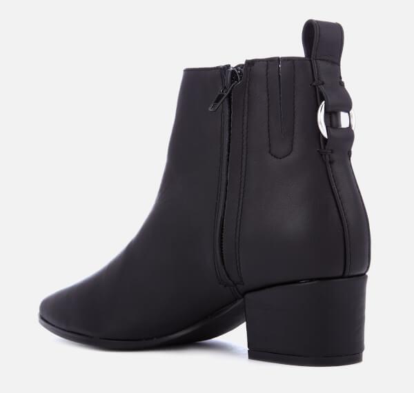7d1c1272362 Steve Madden Women S Clover Leather Heeled Ankle Boots Black
