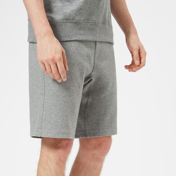 armani exchange men's sweat shorts - grey - l