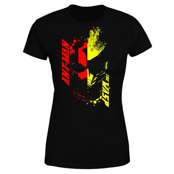 Ant-Man And The Wasp Split Face Women's T-Shirt - Black