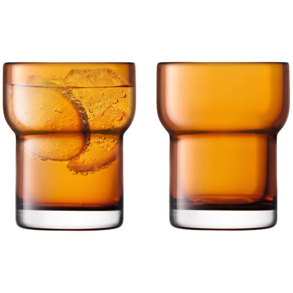 LSA Utility Tumbler - 300ml - Amber - Set of 2