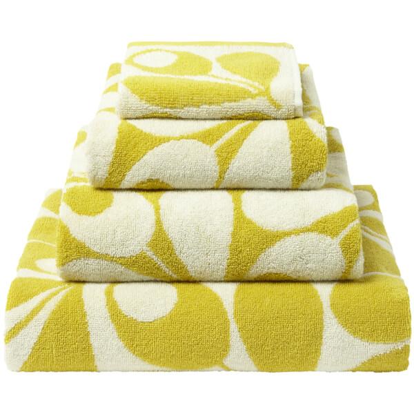 orla kiely acorn cup towels dandelion pack of 2. Black Bedroom Furniture Sets. Home Design Ideas