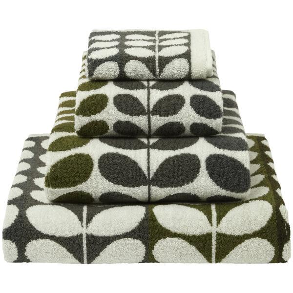 orla kiely multi stem towels moss pack of 2 homeware. Black Bedroom Furniture Sets. Home Design Ideas