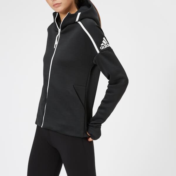 adidas Women's ZNE Full Zip Hoody - Black