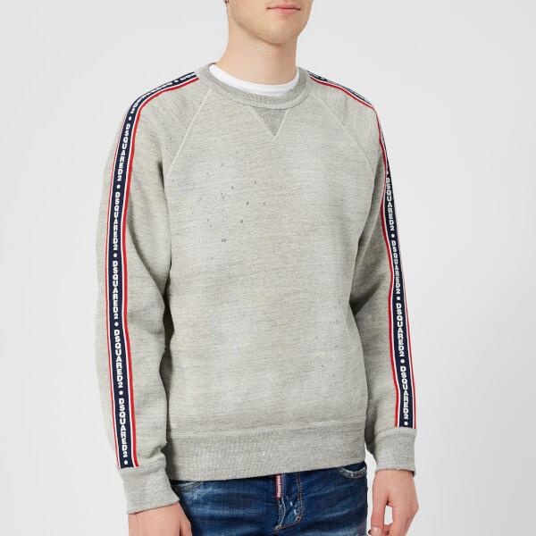 Dsquared2 Men's Dan Fit Tape Detail Sweatshirt - Grey Melange