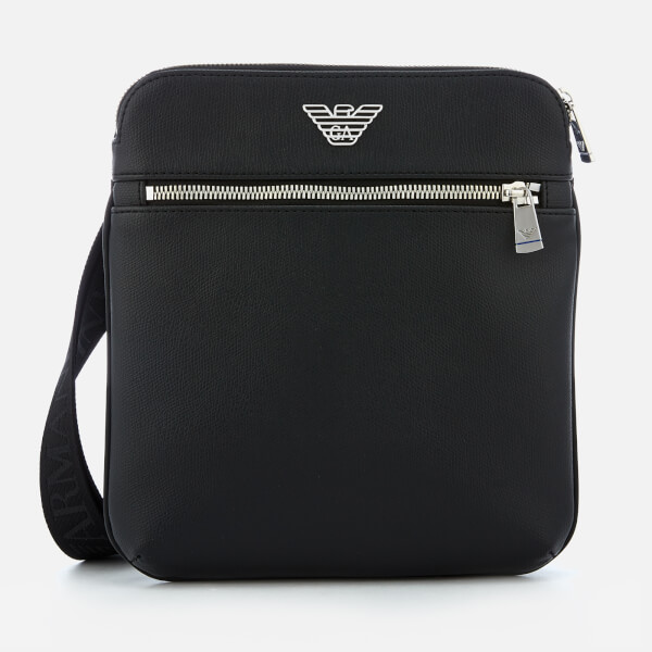 Emporio Armani Men's Messenger Bag - Black