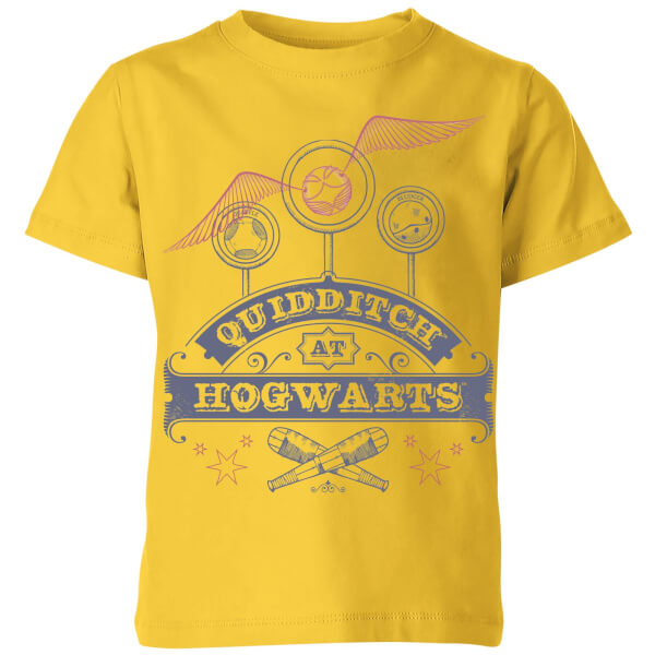 Harry Potter Quidditch At Hogwarts Kids' T-Shirt - Yellow