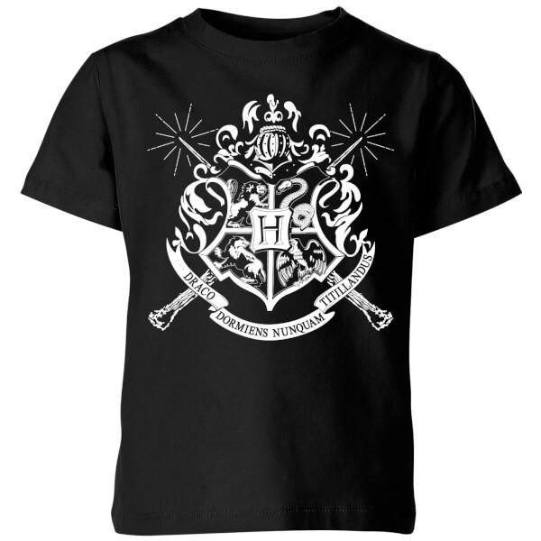 Harry Potter Hogwarts House Crest Kids' T-Shirt - Black