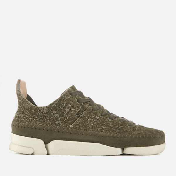 Clarks Originals Women's Trigenic Flex Suede Trainers - Olive