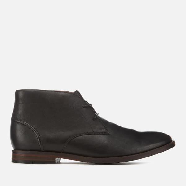 Clarks Men's Glide Leather Chukka Boots - Black