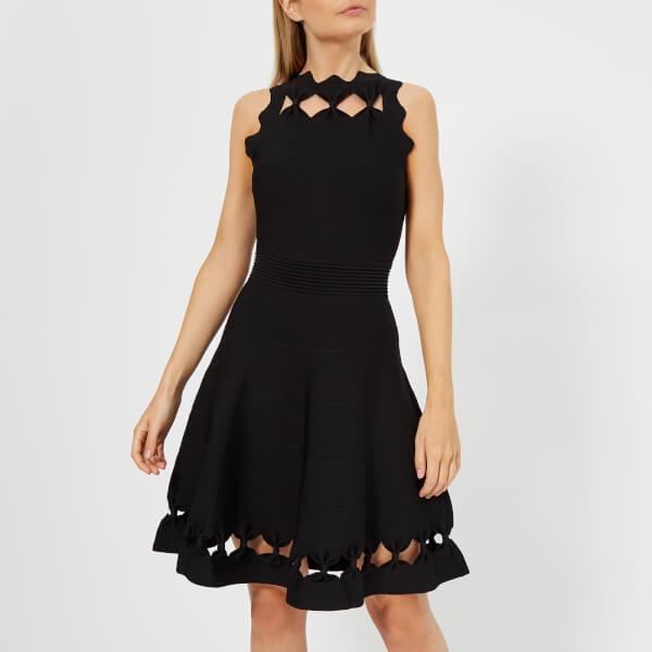 97dce38062f7be Ted Baker Women s Cherina Bow Detail Knitted Skater Dress - Black  Image 1