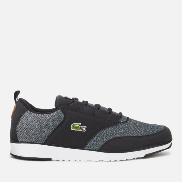 Lacoste Men's Light 318 3 Textile Runner Style Trainers - Black/Brown