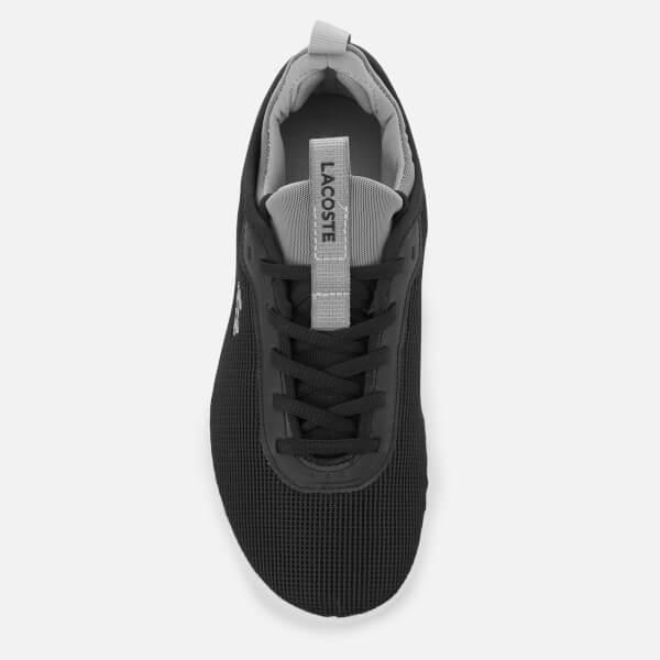 982393c20a82d Lacoste Women s Lt Spirit 2.0 318 2 Textile Runner Style Trainers - Black  Grey