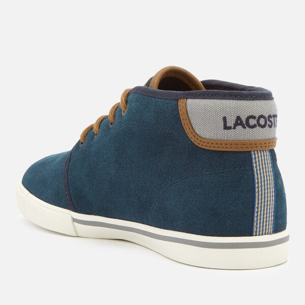 Lacoste Men's Ampthill 318 1 Suede Chukka Boots - Navy/Tan - UK 10 KhsiFwR