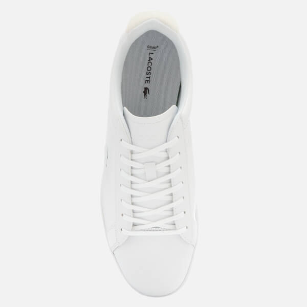 99fc69f4b38696 Lacoste Men s Carnaby Evo 318 7 Croc Leather Trainers - White Mens ...