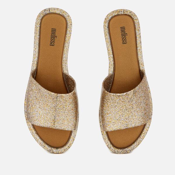 Melissa Women's Soul Slide Sandals - Gold Glitter