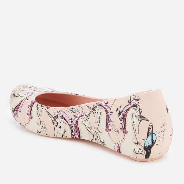01fe6f3f5f Melissa Kids' Ultragirl Fantasy 20 Ballet Flats - Blush Unicorn: Image 2